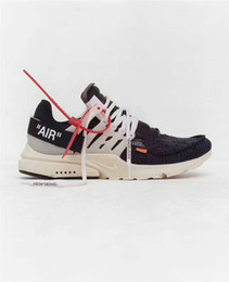 Wholesale Best Zoom - Best OFF Shoes The Ten X Virgil Abloh Blazer Blazer Mid Air Retro 1 Presto Vapormax 90 97 Zoom Fly SP React Hyperdunk 2017 HD White Sneakers