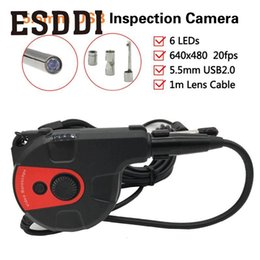 Wholesale Video Snake - Esddi New 5MM IP67 Android Endoscope Inspection 6LED USB Borescope Video Camera HT-66AC HT-88AC Snake Inspection Tube Pipe Gift