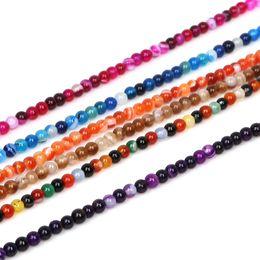 2019 branelli acrilici di velluto all'ingrosso 95pcs 4mm perline di pietra naturale tinti di colore agate perle di onice sciolto tondo per monili che fanno braccialetto collana fai da te