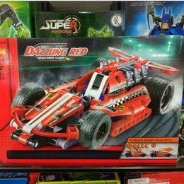Wholesale Gift Toys - Spell plug assembly Rally fall 3411-3415-3418 building blocks toy car gift gifts