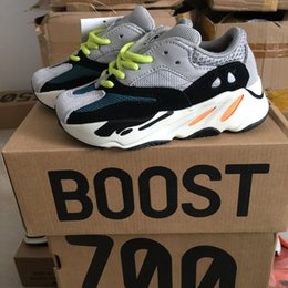 Wholesale Toddler Trainers - Kids Boots Running Shoes Kanye West Wave Runner Boost 700 Youth Shoes Trainers Sply 700 Sports Sneakers Casual Toddler Shoe Size :28-35