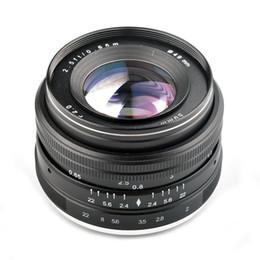 2019 lente de foco fixo Lightdow 50mm F2.0-F22 Lente de Foco Manual Fixo Principal para Canon 550D 760D 77 D Nikon D5100 D7100 Sony NEX E-Montagem Lente Mirrorless lente de foco fixo barato