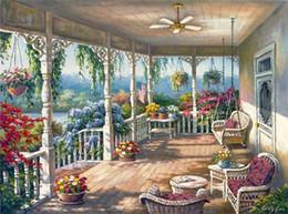 pinturas fénix Rebajas 16x20 pulgadas American Home Garden Yard paisaje DIY pintura sobre lienzo de dibujo por números Kits arte acrílico pintura al óleo marco