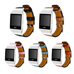 Wholesale ionic blue - For Fitbit Ionic Band Adjustable Leather Band Bracelet Replacement Wrist Watch Band for Fitbit Ionic Watch
