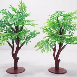 Wholesale Plastic Trees Model - Wholesale- 9cmModel Trees landscaping Railway and War game layouts Dollhouse Miniature Scale Model Tree Dollhouse Scenery Layout Landscape