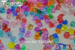 Акриловые ледяные кристаллы онлайн-Праздничный 250 шт. Акриловый Кристалл Камень Искусственные Кубики Льда Главная Сад Аквариум Декор Diy Аксессуары Свадебные Украшения