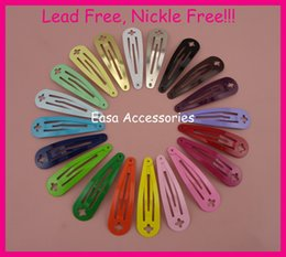 """Wholesale Cross Clip Hair - 50PCS 5.0cm 2"""" Assorted Colors Round Head Plain Metal Snap Hair Clips with Cross hole,Nickle free,Lead free,BARGAIN for BULK"""