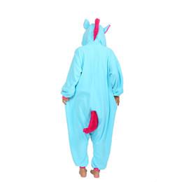 Wholesale Kigurumi Kids Sleepwear - unicorn onesie kids Kigurumi Unicorn Pajamas Women Animal Onesie Cosplay Costume Flannel Warm Loose Soft Sleepwear Jumpsuit Kid & Adult