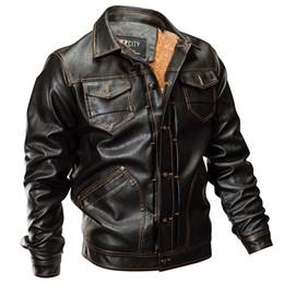 Invierno chaqueta de cuero de la PU de los hombres táctico del ejército de la chaqueta de bombardero cálida capa de piloto grueso forro de lana motocicleta desde fabricantes
