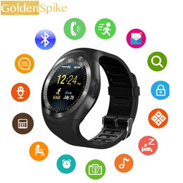 Canada Bluetooth Smartwatch Y01 Soutien Montre Intelligente Reloj Relogios 2G GSM SIM App Mp3 pour iPhone Xiaomi huawei Android Phone supplier android bluetooth app Offre
