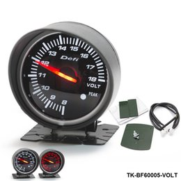 Wholesale Car Volt Meters - Defi Original color box 60mm VOLTS GAUGE High Quality Auto Car Motor Gauge with Red & White Light TK-BF60005-VOLT