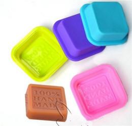 6 cavità PLAIN Rettangolo Sapone Stampo in silicone artigianali fai da te Strumento di torte fatte in casa facendo
