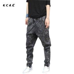 Wholesale Beams Plus - Fashion 2017 New Plus Size M-5XL Harem jeans Men Taper Jeans Men Joggers Casual Hip hop Elastic Beam Pants Pencil