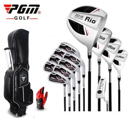 Wholesale Full Set Golf Clubs - Brand PGM men Full   half   mini complete golf clubs set with bag mens golf clubs irons branded irons set
