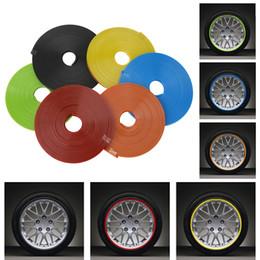 2019 adesivo per ruote toyota LOONFUNG LF74 Car Wheel Protezione Adesivo Mozzo Auto Decorative Strip Auto Rim / Protezione Pneumatici Cura Copre Drop Ship Auto-styling 8 Metro