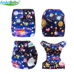 Fraldas amigáveis do bebê do eco on-line-Ananbaby Eco-friendly reutilizável tamanho único fralda de pano do bebê com inserção