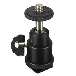 trípode de cuna Rebajas Venta caliente 1/4 Adaptador de zapata caliente Cradle Ball Head con bloqueo para trípode de cámara LED Flash Light Holder Holder Mount