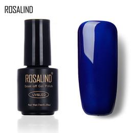 ROSALIND 7 ML Popular Gel BLUE Cor Série UV LED Verniz Gel Unha Polonês Acrílico para Nail Polish Art 2017 Moda de