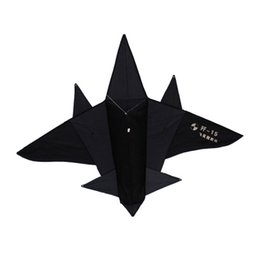 Wholesale Outlet Goods - Free Shipping Outdoor Fun Sports Black Fighter Kite  Plane Kite Good Flying Factory Outlet Flying Shark Aircraft