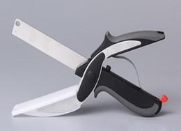 Argentina Clever Cutter 2 en 1 tijeras de cocina de acero inoxidable con cuchilla afilada Cutting Board cortador de comida para carne vegetal KKA1040 Suministro