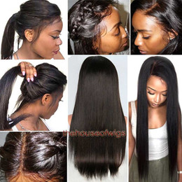 Wholesale vietnamese girl - Full Lace Wigs Pre Plucked Hairline lace front wig black girl women With baby hair bleached knots Natural looking