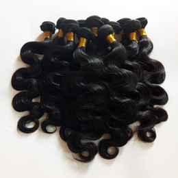 Wholesale Brazilian Cuticle Hair - Full cuticle aligned High-end hair European Brazilian virgin human Hair weft body wave 8-28inch Indian remy hair extensions long lifetime