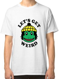 Wholesale get clothing - Finn Wolfhard Let's Get Weird White T-Shirt Tees Clothing