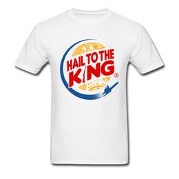 2019 roi personnalisé 2018 nouvelle arrivée 100% coton t-shirt personnalisé chemises blanches chemise pour hommes fournisseur T-shirt Hail To The King roi personnalisé pas cher