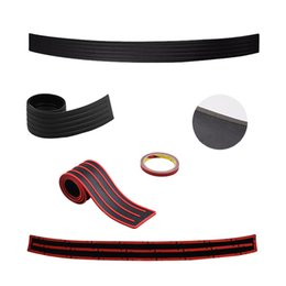 Wholesale Film Strip - hina door guard Suppliers Red Black Car SUV Truck Bumper Anti-Scratch Protector Trim Cover Protective Strip Universal Car Door Sill Guard...