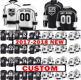 Wholesale Jarome Iginla Jersey - Custom 2017-2018 New Los Angeles Kings 35 Darcy Kuemper 88 Jarome Iginla Jersey Mens 23 Dustin Brown 12 Marian Gaborik Hockey Jerseys