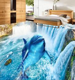 2019 золотисто-черные обои 3d полы стереоскопические обои на заказ 3d пол водопад дельфин настенные обои papel де parede 3d европау виниловые полы