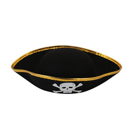 Wholesale pirate men costume - Halloween Pirate Cap Fancy Men Women Dressing Dress Up Party Costume Hat Access