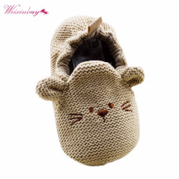 Wholesale Mouse Cartoon Baby - Infant Toddler Baby Knit Cute Mouse Shoes Newborn Boy Girl Cartoon First Walkers 0-18M
