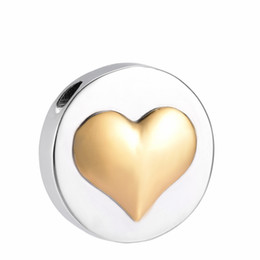 Wholesale One Love Heart - IJD10048 Gold heart necklace stainless steel cremation memorial jewelry keepsake for loved ones ashes
