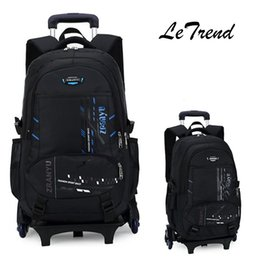 Wholesale Backpacks Wheels - LeTrend High-capacity Student Shoulder Backpack Rolling Luggage Children Trolley Suitcases Wheel Cabin Travel Duffle School Bag