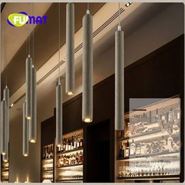 Wholesale Pendant Spotlights - FUMAT Vintage style Water pipe cement pendant light Bar Bedroom Restaurant Cafe Decoration spotlight Free Shipping