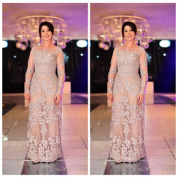 Wholesale long sleeve maxi formal dresses - Vintage Lace Mother of the Bride Dresses Evening Wear 2018 Long Sleeves Floor Length Evening Gowns Plus Size Modest Maxi Formal Wear