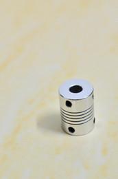 Acoplamentos de eixo flexível da liga de alumínio Acoplador do eixo do motor deslizante do CNC D19 * L25 Diâmetro interno do acoplamento do codificador do enrolamento 3-10 milímetros de Fornecedores de acoplamentos elásticos