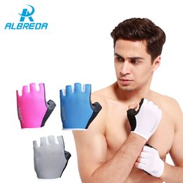 mitts gym Coupons - ALBREDA Bicycle Sport Gloves Gym Gloves Training Fitness Gloves Sports Weight Lifting Slip-Resistant Half Finger Mitts