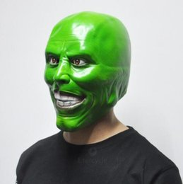 Wholesale Movie Prop Mask - The Mask Jim Carrey Masks Halloween Adult Latex Mask Movie Cosplay Toy Props Party Fancy Dress