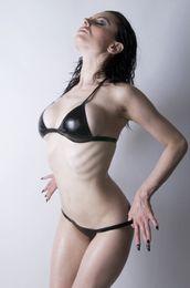 biquínis de borracha Desconto 100% Natrual Látex Sexy Swimsuit Borracha Bikini Swimwear Fetish Desgaste