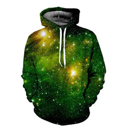 Wholesale Thin Cotton Winter Hat - Space Galaxy 3d Sweatshirts Men Women Hoodies With Hat Stars Printing Nebula Autumn Winter Loose Thin Hooded Hoodies