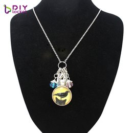 Wholesale black cat picture - 2017 Hot Sale Necklace Glass Cabochon Stainless Steel Chain Necklace White Black Cats Picture Vintage Pendant For Women