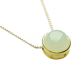 Wholesale Nickel Stone - Simple OL Lady Style Imitation Simulated Pearl Necklace Jewellery Nickel Free Pendant Gold Color Fashion Crystal
