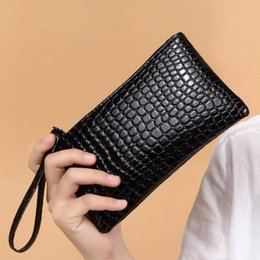 Wholesale Easter Fabric Panels - Wholesale crocodile pattern lady handbag purse small bag handbag mobile phone bag