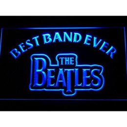 Wholesale neon sign bands - 7 Colors The Beatles Best Band Ever LED Neon Sign Light Football USA Sports Team Custom Neon Signs led Design Your Own Bar Signs Drop Ship