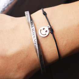Wholesale Singapore Fines - Fashion spiral fine letter Bracelet Never give up and a couple of inspirational Jewelry Bracelet