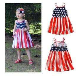 2019 vestidos para estrelas Meninas Vestem para o dia 4 de Julho América Dia da Independência Sem Mangas Meninas Roupas Crianças Estrelas Tarja Vestido Roupas para Crianças Dos Miúdos desconto vestidos para estrelas