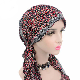 Wholesale Head Wear Cap - Hengzheapparel New Cotton Floral Chemotherapy India Hat Spring Summer Breathable Head Wear Female Casual Elegant Beanie Cap