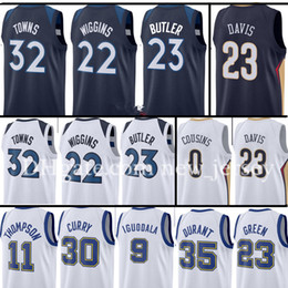 Wholesale Butler Jerseys - Men's 2017-2018 New 23 Jimmy Butler 22 Andrew Wiggins 32 Karl-Anthony Towns Jersey 23 Anthony Davis 0 DeMarcus Cousins Jersey Free Shipping